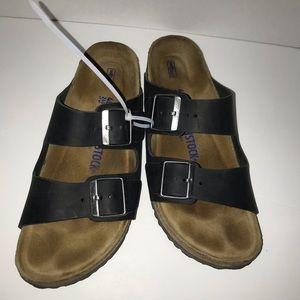 Birkenstock Arizona soft footbed sandal black sz40